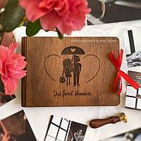 Деревянный фотоальбом для любимых   Оригинальный подарок девушке на годовщину отношений, свадьбы