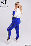 Прогулянковий костюм жіночий Турецька двунітка Розмір 48-50 52-54 56-58 В наявності 4 кольори, фото 4