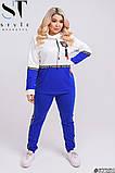 Прогулянковий костюм жіночий Турецька двунітка Розмір 48-50 52-54 56-58 В наявності 4 кольори, фото 6