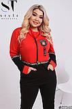 Прогулянковий костюм жіночий Турецька двунітка Розмір 48-50 52-54 56-58 В наявності 4 кольори, фото 3