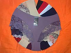 Жіночі трусики батал мікрофібра Р. р 50,52,54 один колір в упаковці