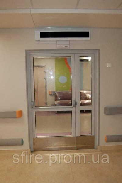 Двери противопожарные алюминиевые с остеклением до 90% EI 30 внутренние