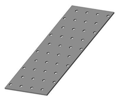 Пластина монтажная (крепежная) перфорированная 80х300х2
