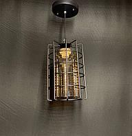 Підвісний світильник лофт з плафоном чорний, фото 1