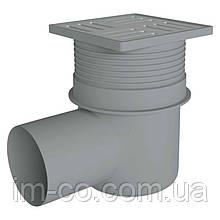 Трап ANI Plast TA1612 горизонтальний з нержавіючою решіткою 150x150