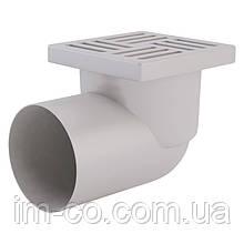 Трап ANI Plast TA1110 горизонтальний з пластиковою решіткою 150х150