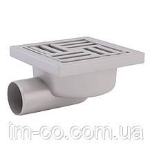 Трап ANI Plast TA5110 горизонтальний з пластиковою решіткою 150х150