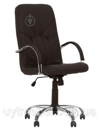 Крісло Manager Steel Chrome (Comfort) ECO-07 (Новий Стиль)
