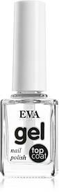 Верхнє покриття для нігтів з ефектом гель-лаку Eva cosmetics Top Coat The Gel Nail Polish 12 мл (01011800103)