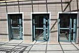 Двери противопожарные алюминиевые с остеклением до 90% EI 30 наружные, фото 2