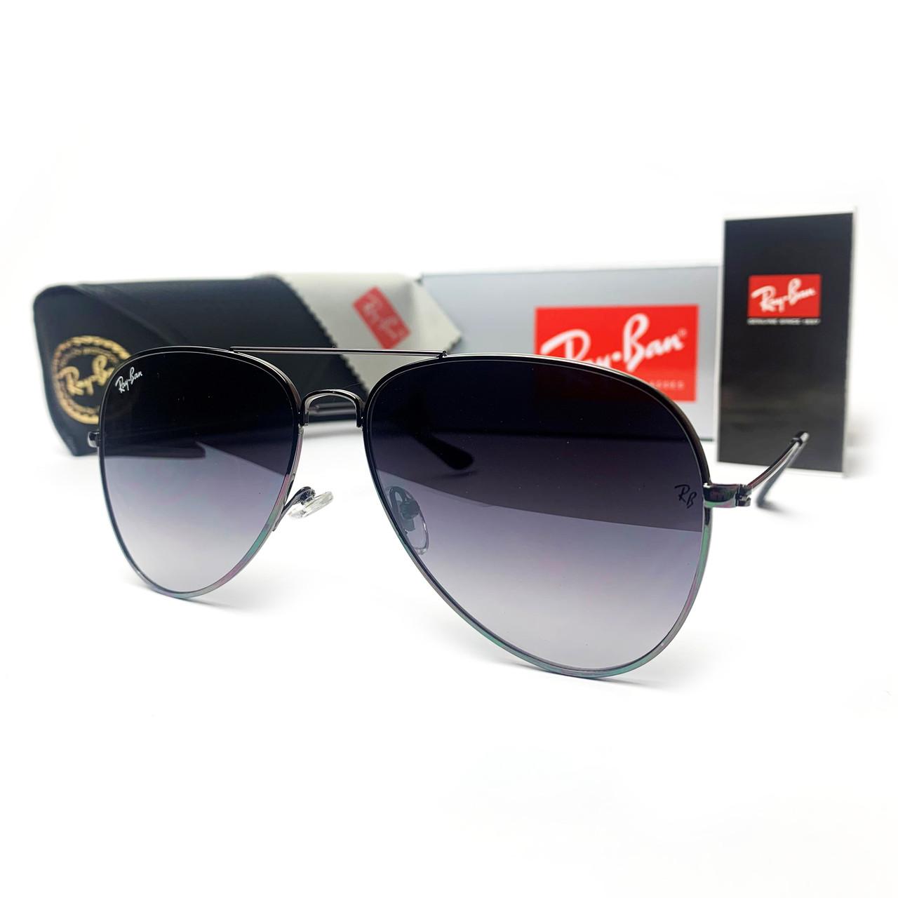 Сонцезахисні окуляри R-B Aviator Краплі 3025 Чорний Градієнт
