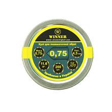 Кулі свинцеві WINNER гострі 0,75 г, 200шт 13255