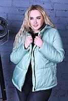 Жіноча стильна демісезонна куртка на силікон (Норма і батал), фото 3