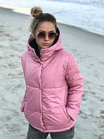 Жіноча стильна демісезонна куртка на силікон (Норма і батал), фото 4