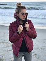 Жіноча стильна демісезонна куртка на силікон (Норма і батал), фото 5