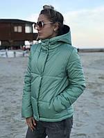 Жіноча стильна демісезонна куртка на силікон (Норма і батал), фото 6