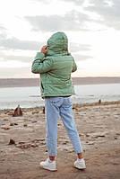Жіноча стильна демісезонна куртка на силікон (Норма і батал), фото 7