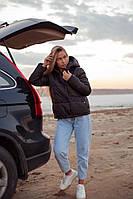 Жіноча стильна демісезонна куртка на силікон (Норма і батал), фото 8