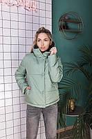 Жіноча стильна демісезонна куртка на силікон (Норма і батал), фото 9