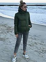 Жіноча стильна демісезонна куртка на силікон (Норма і батал), фото 10