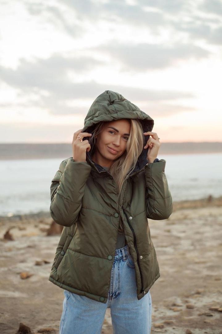 Жіноча стильна демісезонна куртка на силікон (Норма і батал)