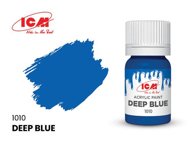 Краска водорастворимая синяя, 12 мл. ICM 1010, фото 2