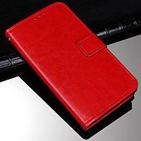 Чехол Fiji Leather для HTC Desire 12s книжка с визитницей красный