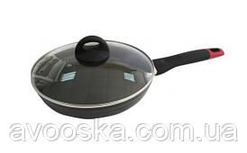 Сковорода індукція з кришкою Lessner Black Pro 28 см 88366-28