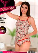 Комплект женский 2-ка майка и трусики хлопок  Турция S-M,L-XL 0102