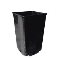 Контейнер для розсади квадратний: 0.8 л, діаметр 9 см, висота 14см