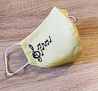 Маска  Скрипічний ключ на жовтому