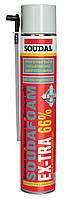 Полиуретановая ручная монтажная пена с увеличеным выходом EX-TRA 66%  SOUDAL .