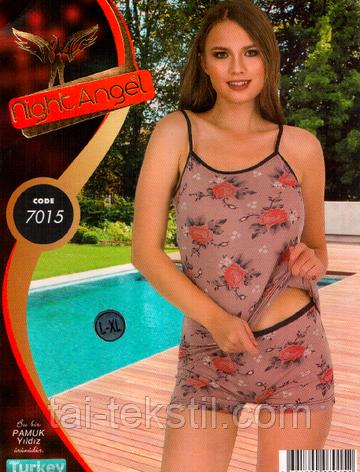 Комплект жіночий 2-ка майка і трусики Туреччина S-M,L-XL 7015, фото 2