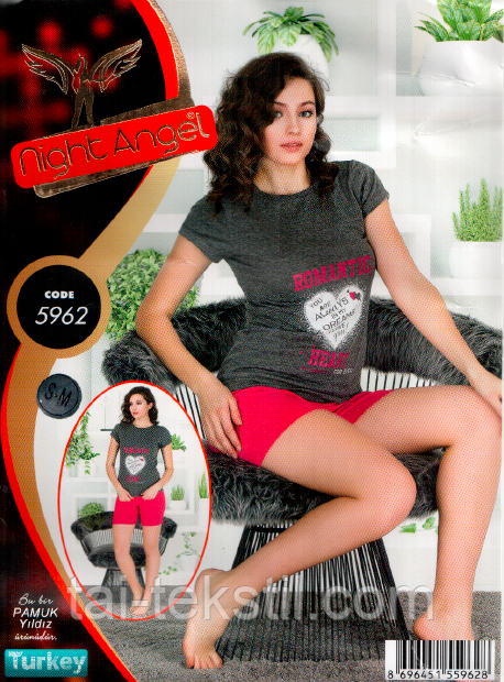 Домашний комплект футболка и шорты качество лайкра Night Аngel