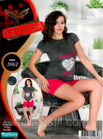 Домашний комплект футболка и шорты качество лайкра Night Аngel, фото 2