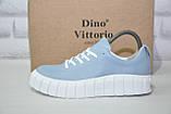 Жіночі кросівки на платформі натуральна шкіра Dino Vittorio, фото 5
