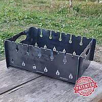 Разборный стальной мангал на 8 шампуров, садовый металлический для дачи. Мангалы производства Украины