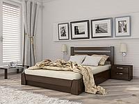Кровать Селена с подъемным механизмом (Эстелла) Бук Щит, 180х200, 101 Орех Темный