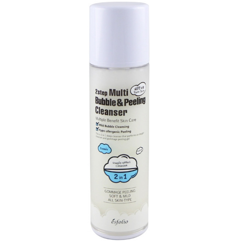 Двухшаговый мульти-клинсер кислородная пенка + пилинг скатка Esfolio 2step Multi Bubble & Peeling Cleanser 120