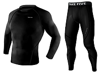 Комплект рашгард и штаны Take Five черный