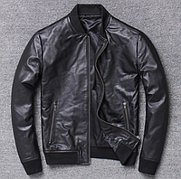 Мужская куртка Urban из натуральной кожи XL черная. (Р1312)