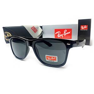 Солнцезащитные Очки R-B Wayfarer Черные Глянцевые