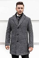 Пальто мужское демисезонное весеннее осеннее Asos темно-серое | Пальто мужское двубортное ЛЮКС качества