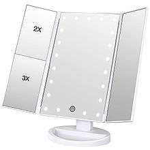 Зеркало для макияжа с LED подсветкой Superstar Magnifying Mirror (RN 496)