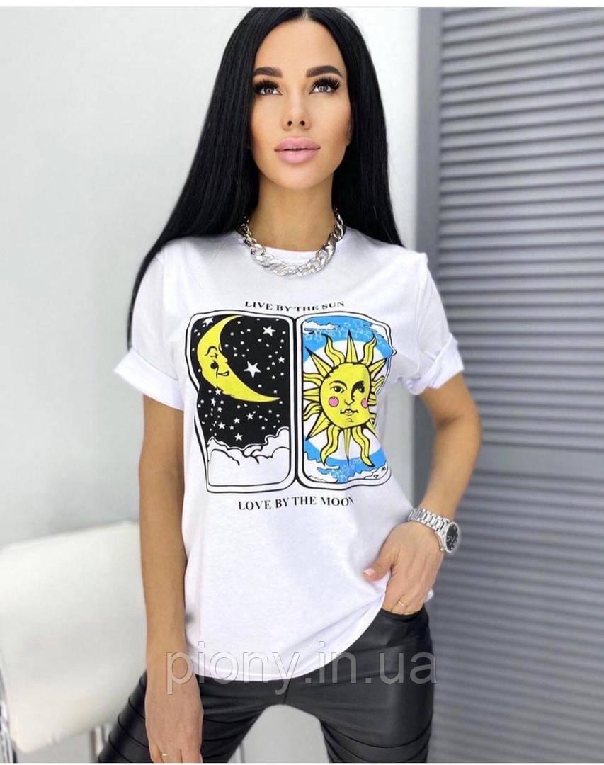 Женская футболка принт