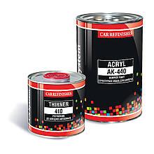 Однокомпонентная конструкционная краска для бамперов (0,5л) черного цвета CS System АК-440 1000, Черный