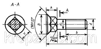 Болт культиваторный М10 ГОСТ 7786-81