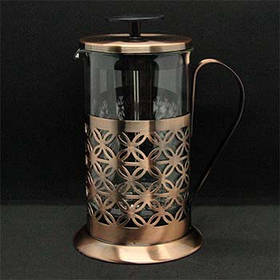 Френч-пресс Антик-латунь 600 мл Заварочный чайник 321173-600