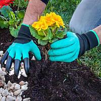 Садові рукавички з кігтями Garden Genie Gloves, фото 1