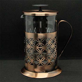 Френч-пресс Антик-латунь 800 мл Заварочный чайник 321173-800